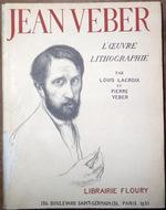 """Couverture de """"L'oeuvre lithographié"""" avec portrait de Jean Veber"""